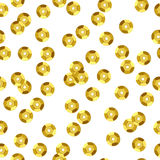 Golden sequins seamless pattern. Stock Images