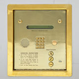 Golden sequrity keypad Royalty Free Stock Image