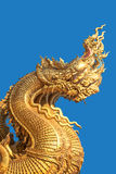 Golden serpent heads Royalty Free Stock Photography