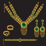 Golden set vector illustration