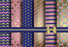 Golden set of abstract pattern ornaments Royalty Free Stock Images