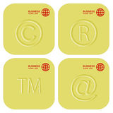 Golden set of business signs. Buttons or icons. Stock Images