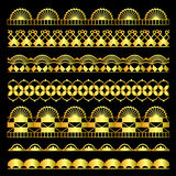 Golden set of lace ribbons Royalty Free Stock Photography