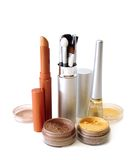 Golden set for make-up Royalty Free Stock Photos