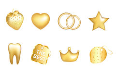 Golden Set. Vector Royalty Free Stock Image