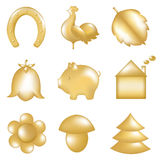 Golden Set. Vector Stock Photography