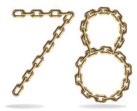 Golden seven and eight and six numbers Stock Photo