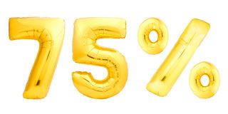 Golden seventy five 75 percent Stock Photos