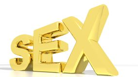 Golden SEX Royalty Free Stock Image