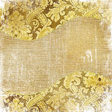 Golden shabby background Stock Photography
