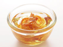 Golden shallot oil Stock Image