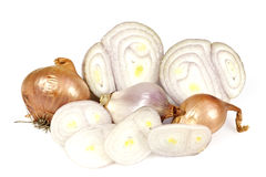 Golden Shallots Royalty Free Stock Images