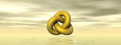 Golden shape - 3D render Royalty Free Stock Images