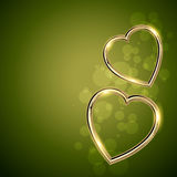 Golden shape heart Royalty Free Stock Image