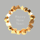 Golden shapes frame Royalty Free Stock Photography
