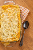 Golden Shepherd's pie Stock Photos