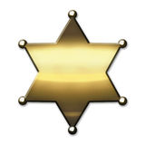 Golden Sheriff Badge Royalty Free Stock Photo
