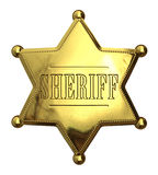 Golden sheriff's badge Stock Image