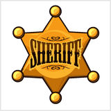 Golden sheriff star badge vector illustration Stock Photo