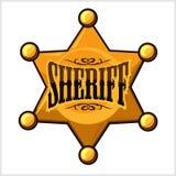 Golden sheriff star badge vector illustration Stock Photo