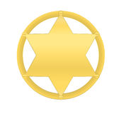 Golden sheriff star Royalty Free Stock Photos