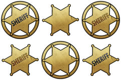 Golden Sheriff Stars Royalty Free Stock Image