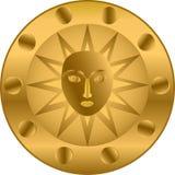 Golden shield Stock Photos