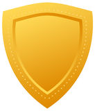 Golden shield. Illustration of blank golden shield Stock Photos
