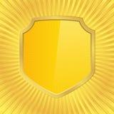Golden Shield Stock Photo
