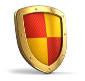 Golden shield Royalty Free Stock Images