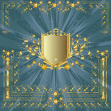 Golden shield Royalty Free Stock Image