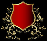 Golden shield Royalty Free Stock Photo