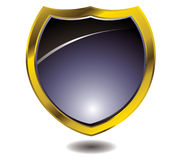 Golden shield Stock Photography