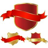Golden shield royalty free illustration