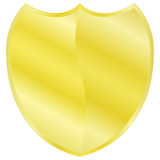 Golden shield Stock Image