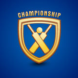 Golden Shield for Cricket Championship. Royalty Free Stock Images