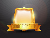 Golden Shield for Cricket Sports concept. Royalty Free Stock Photos