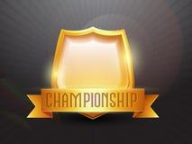 Golden Shield for Cricket Sports concept. Royalty Free Stock Photos