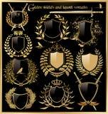 Golden shield design Stock Images