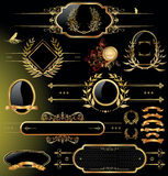 Golden shield design Royalty Free Stock Images