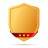 Golden shield icon Stock Photos