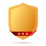Golden shield icon Stock Photos