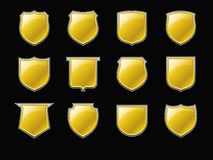 Golden Shields Royalty Free Stock Photo
