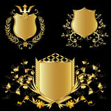 Golden shields Stock Image