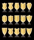 Golden shields Stock Photos