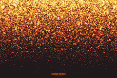 Golden Shimmer Glowing Round Particles Vector Background Royalty Free Stock Images