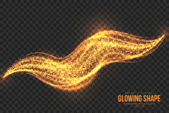 Golden Shimmer Glowing Shape Vector Background Royalty Free Stock Photography