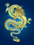 Golden shimmering dragon Stock Images