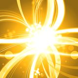 Golden shine abstract background. Illustration Royalty Free Stock Photo