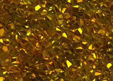 Golden shining crystal relief texture Royalty Free Stock Image